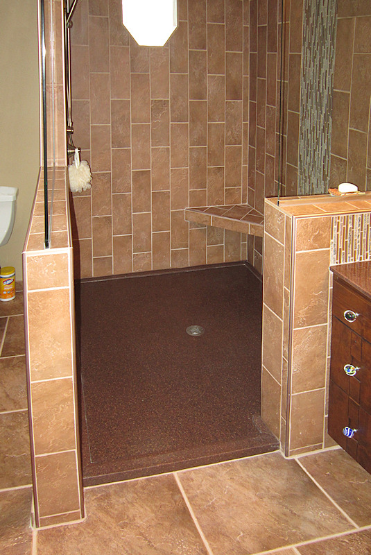 Custom Low Profile Tile Walk In Shower