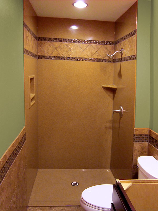 Walk in shower and bathtub replacement gallery for Low height bathtub