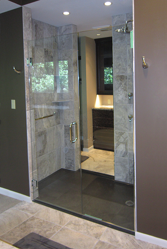 Walk in shower and bathtub replacement gallery for Walk through shower to tub